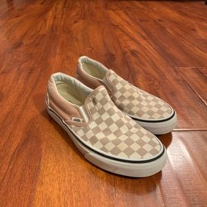 Vans checkerboard classic slip ons
